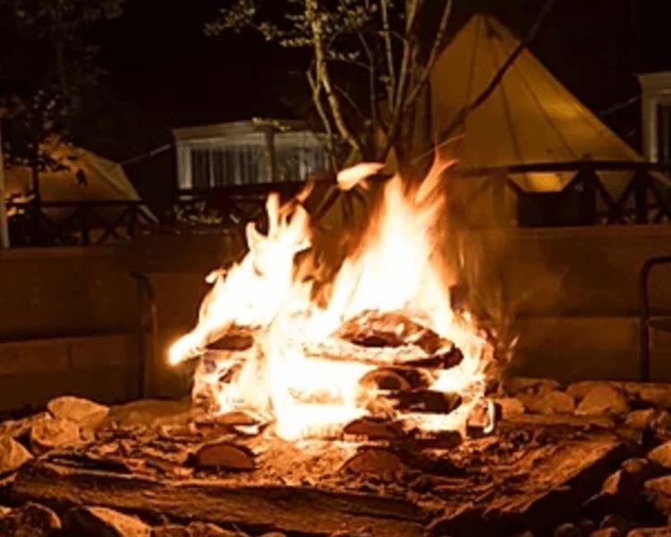 UFUFU VILLAGE   ウフフビレッジ 焚き火写真