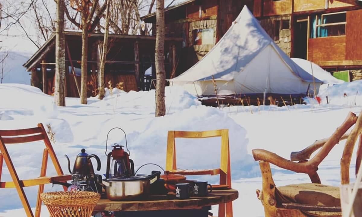 ニセココテージボンゴ広場のテント客室の外観