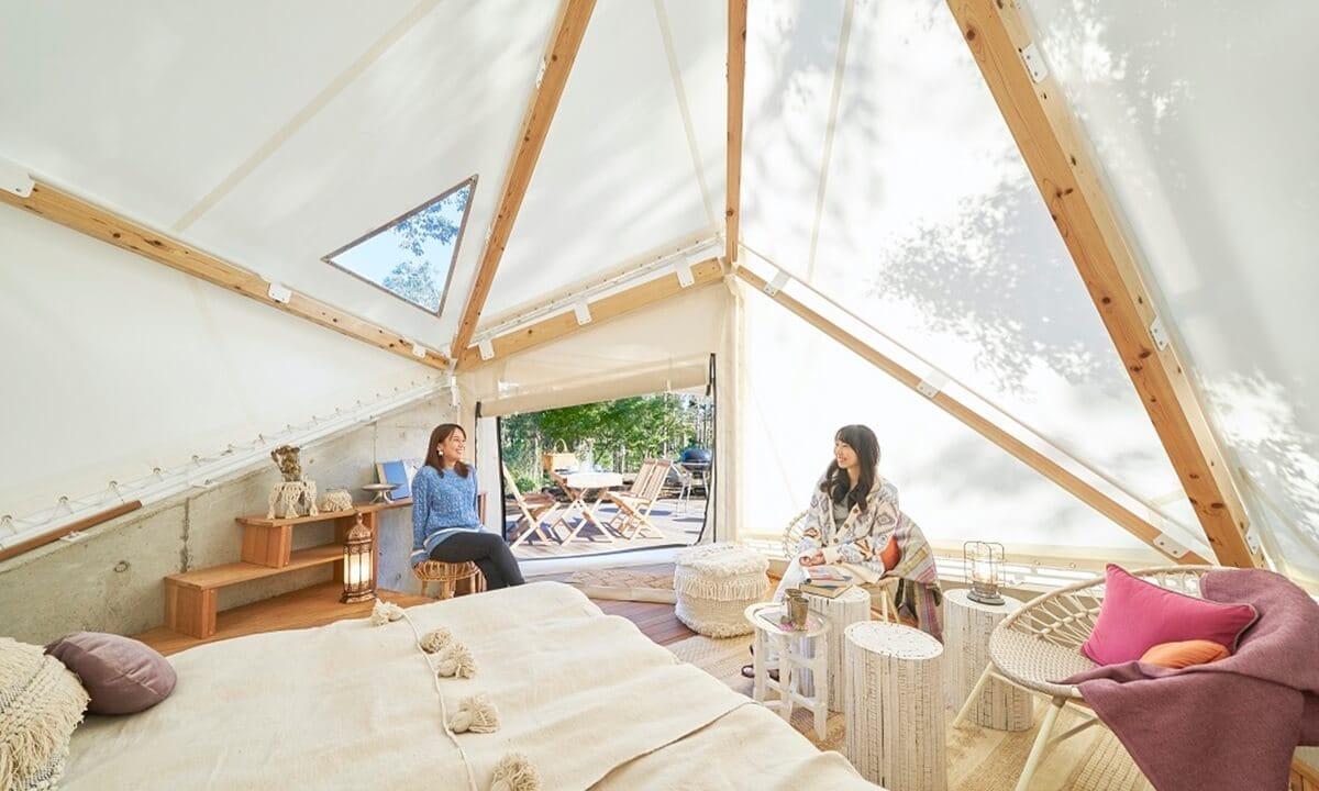 千葉県のグランピング施設Grandvaux Spa Village