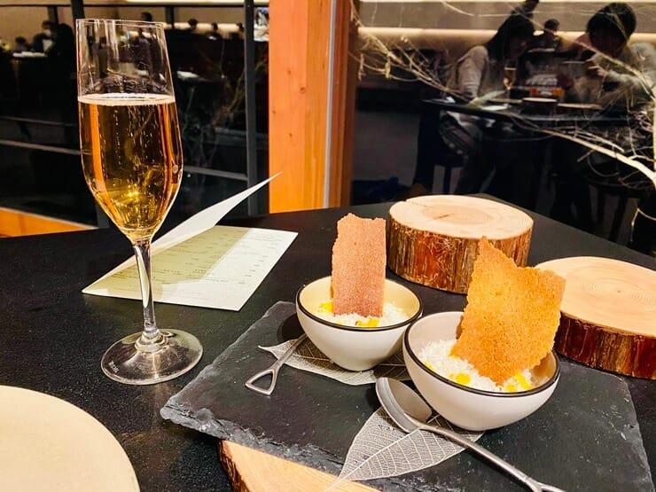 星のや富士の夕食の前菜