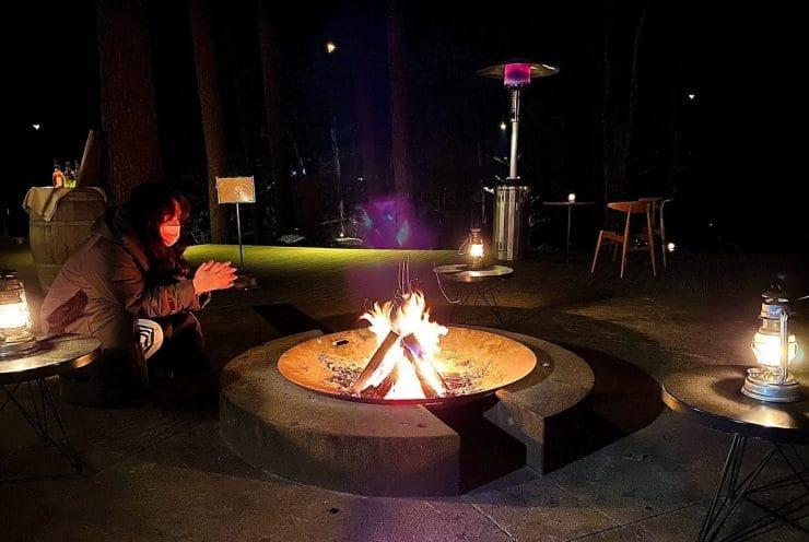 星のや富士の焚火