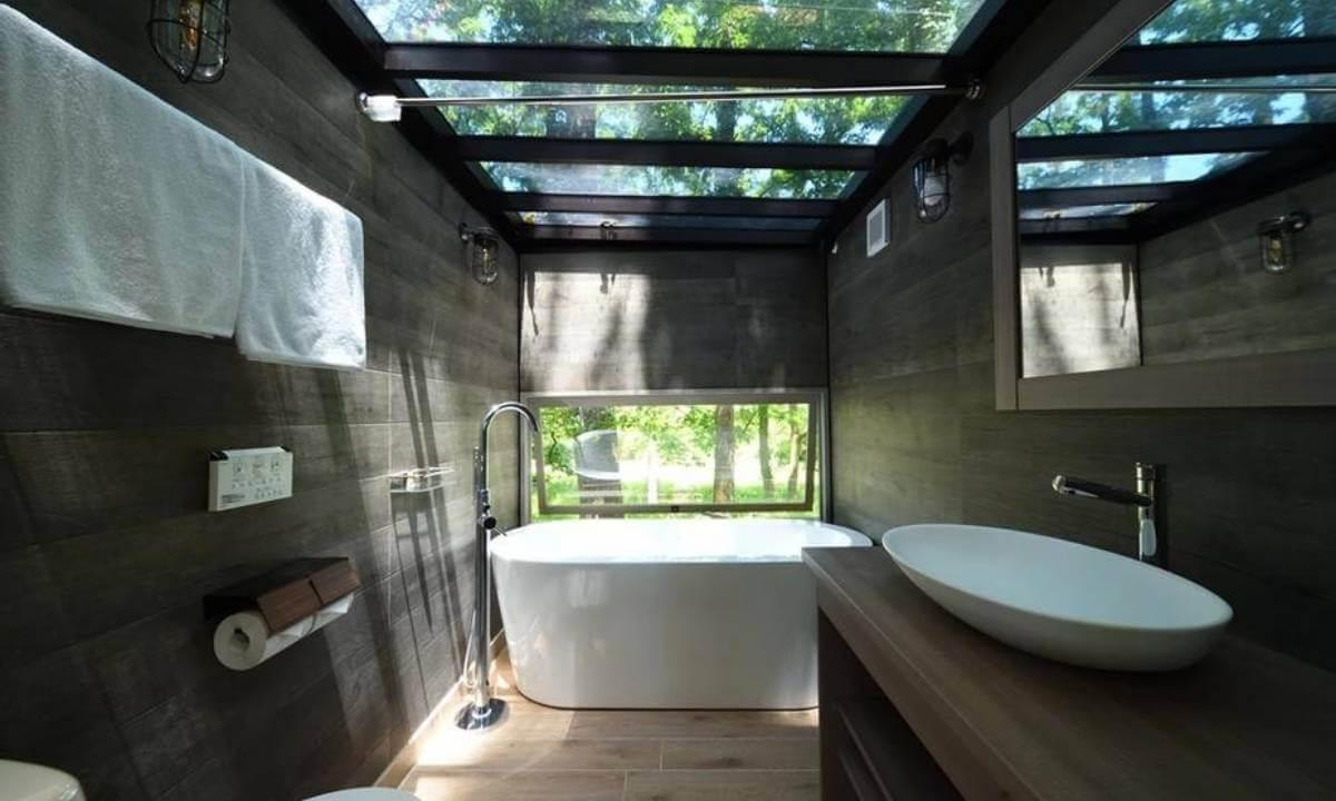 芳賀ファーム&グランピングの客室専用浴室