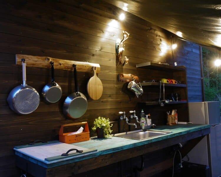 PAWS GROUNDのキッチンスペース