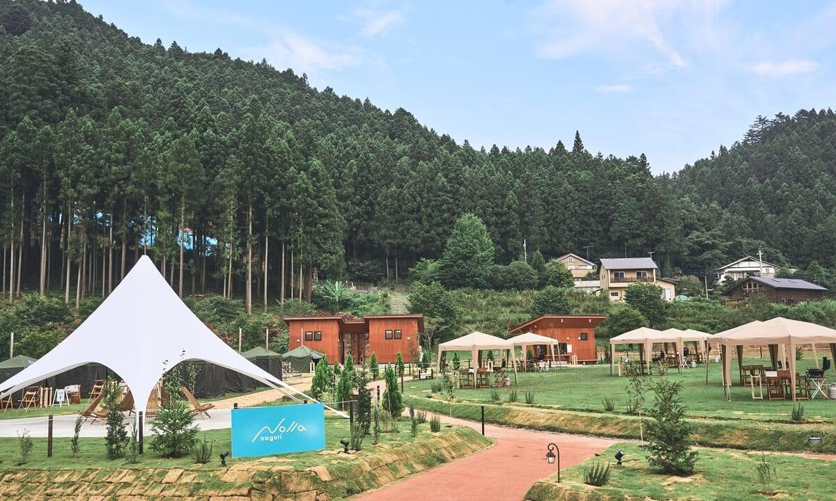 関東のおすすめグランピング施設ノーラ名栗の全体写真