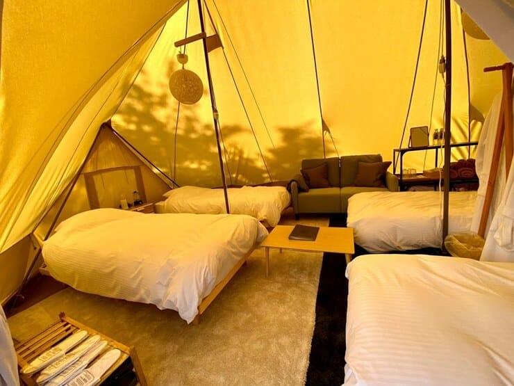 ノーラ名栗のテント客室内